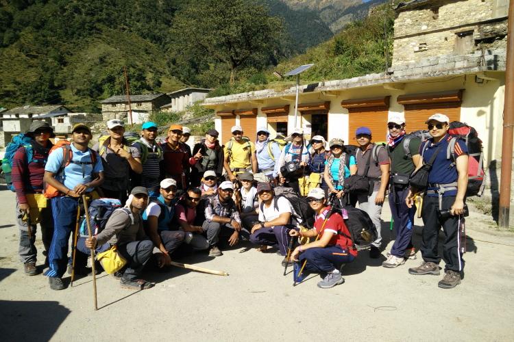 The Team! At Wan, beginning point of Roopkund trek