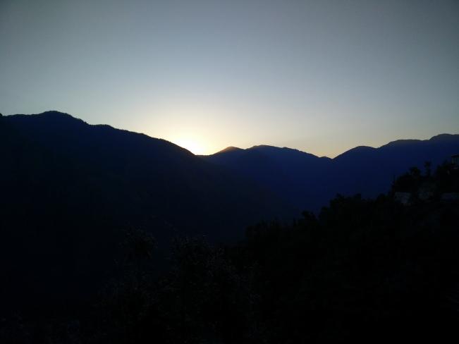 Sunrise at Lohajung base camp