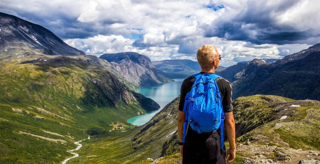 back packing hiker
