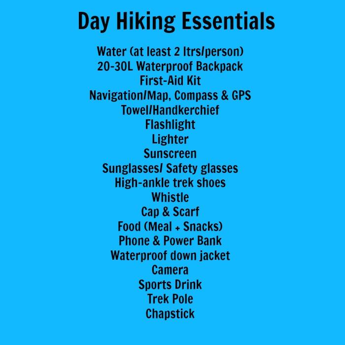 day hiking essentials