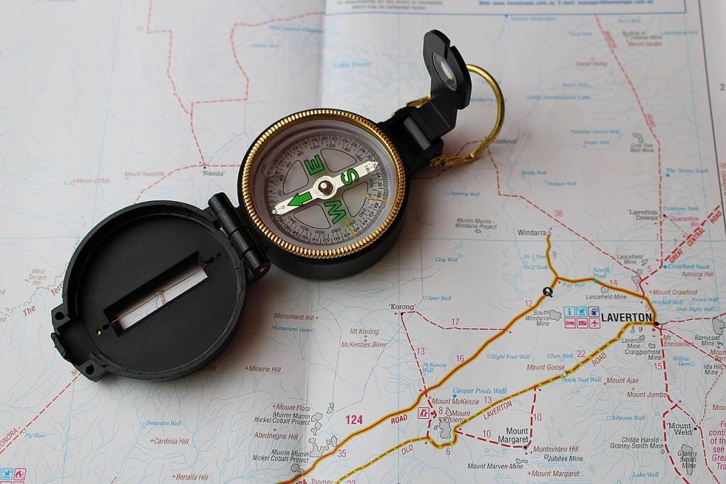navigation map compass