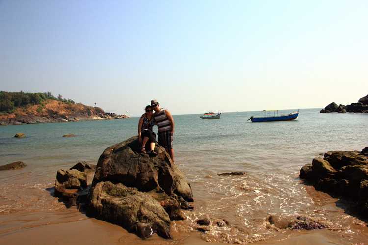 At Om Beach, Gokarna