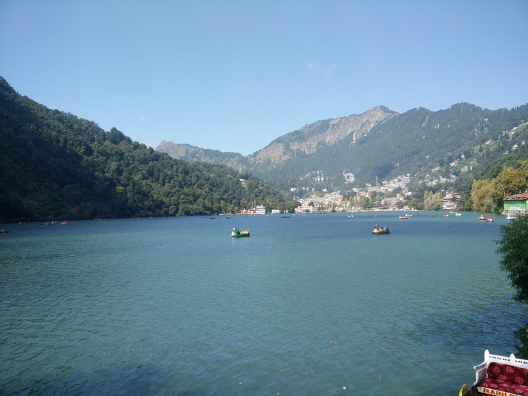 Boating in the Naini Lake, Nainital