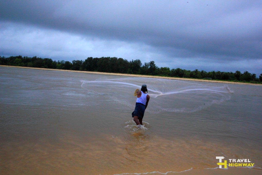 Fisherman at Bengre Beach