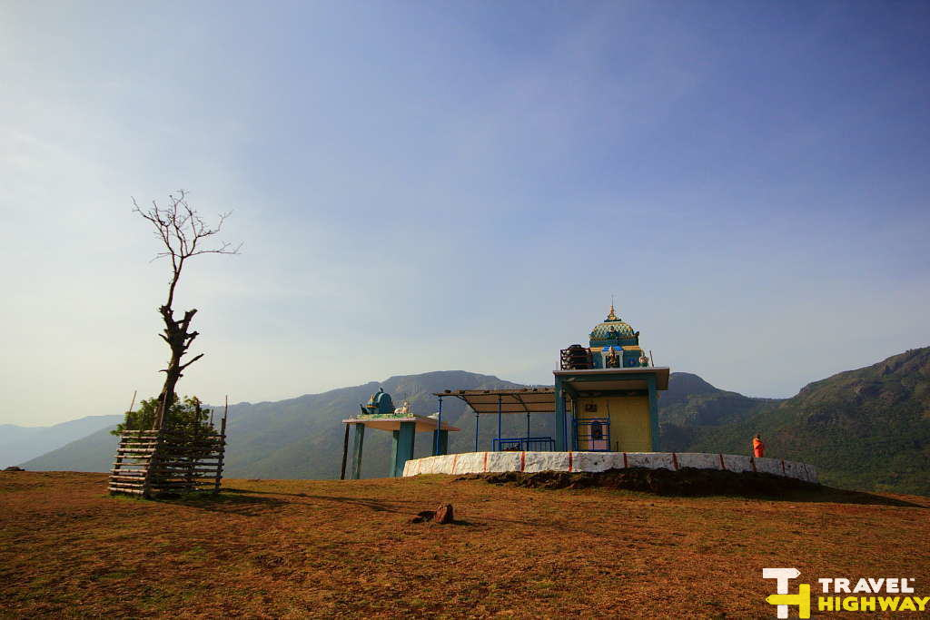 Temple at the top of Vibhootimalai