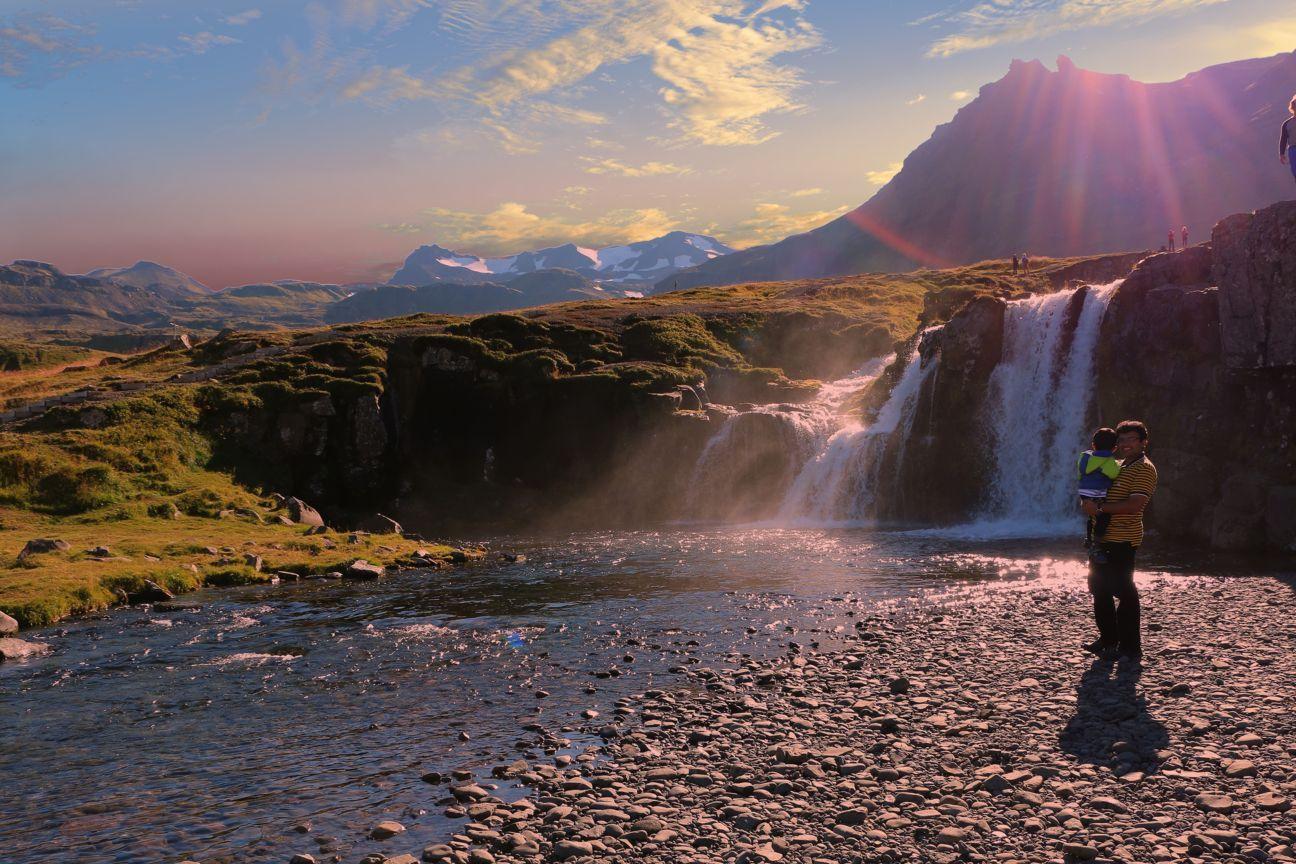 Kirkjufellsfoss waterfall Iceland