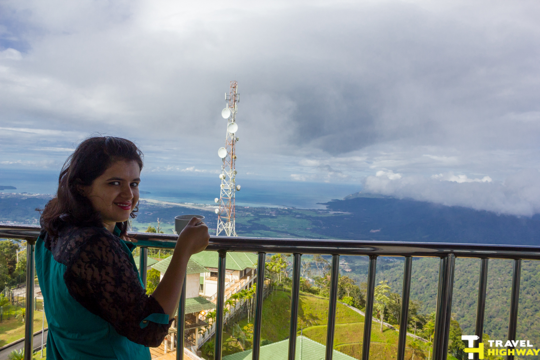Tea House at the top of Gunung Raya Peak
