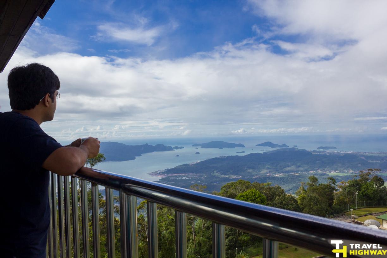Panoramic views of Langkawi from Gunung Raya