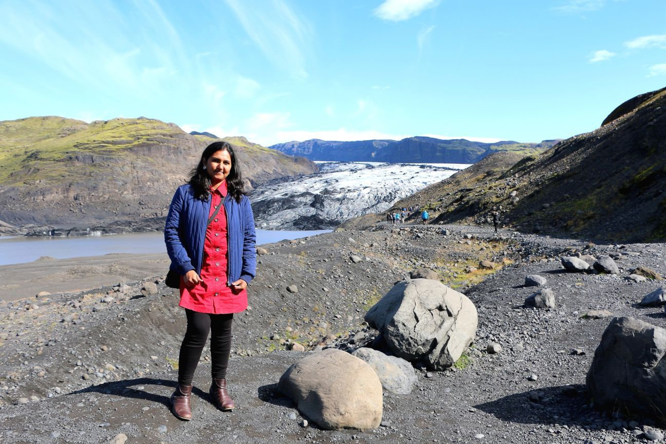 The Eyjafjallajökull glacier, sitting on top of the volcano that erupted in 2010 and disrupted thousands of flights across Europe with its ash and smoke.