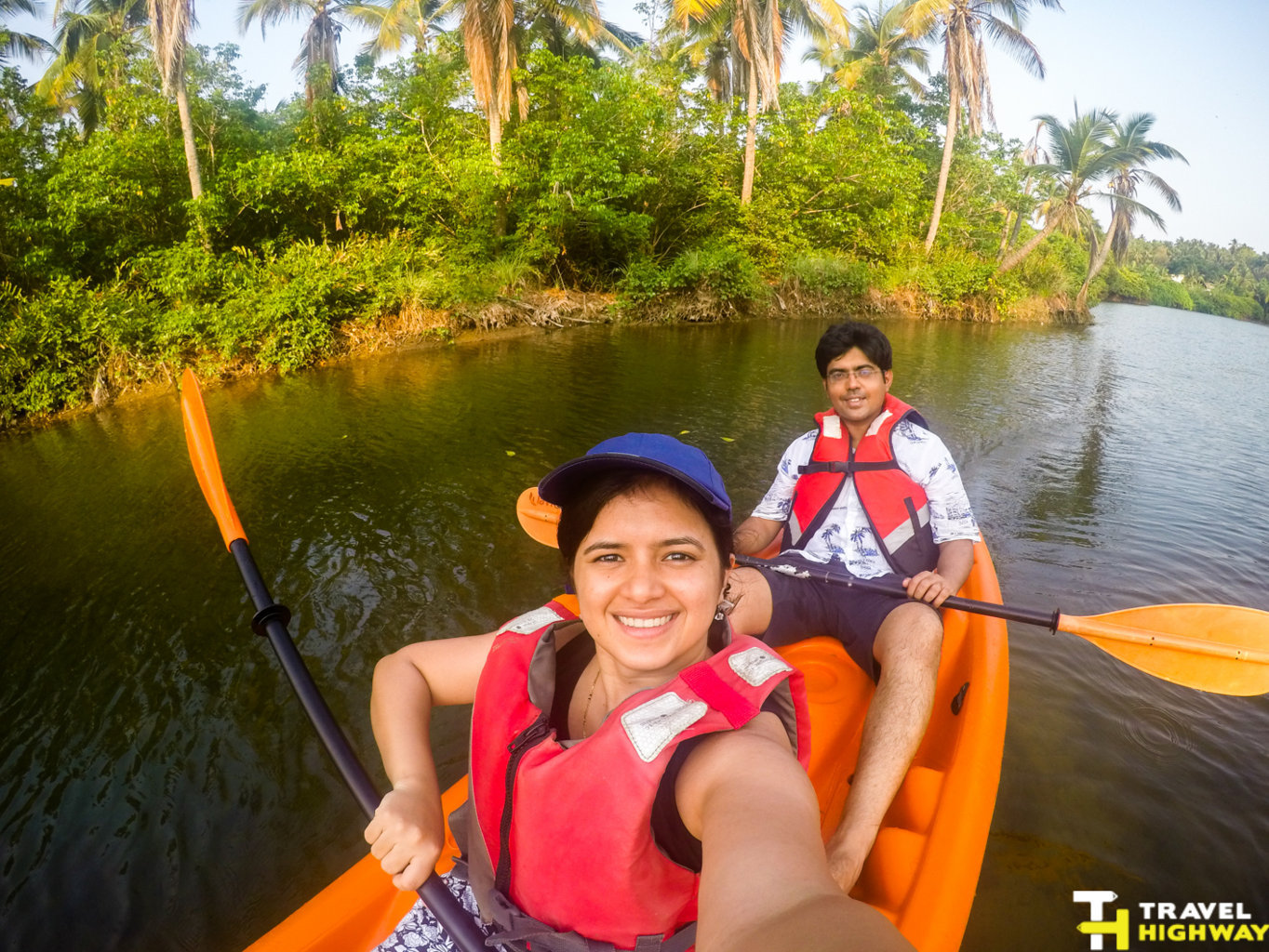Kayaking in the Kappil River at Vivanta by Taj Bekal