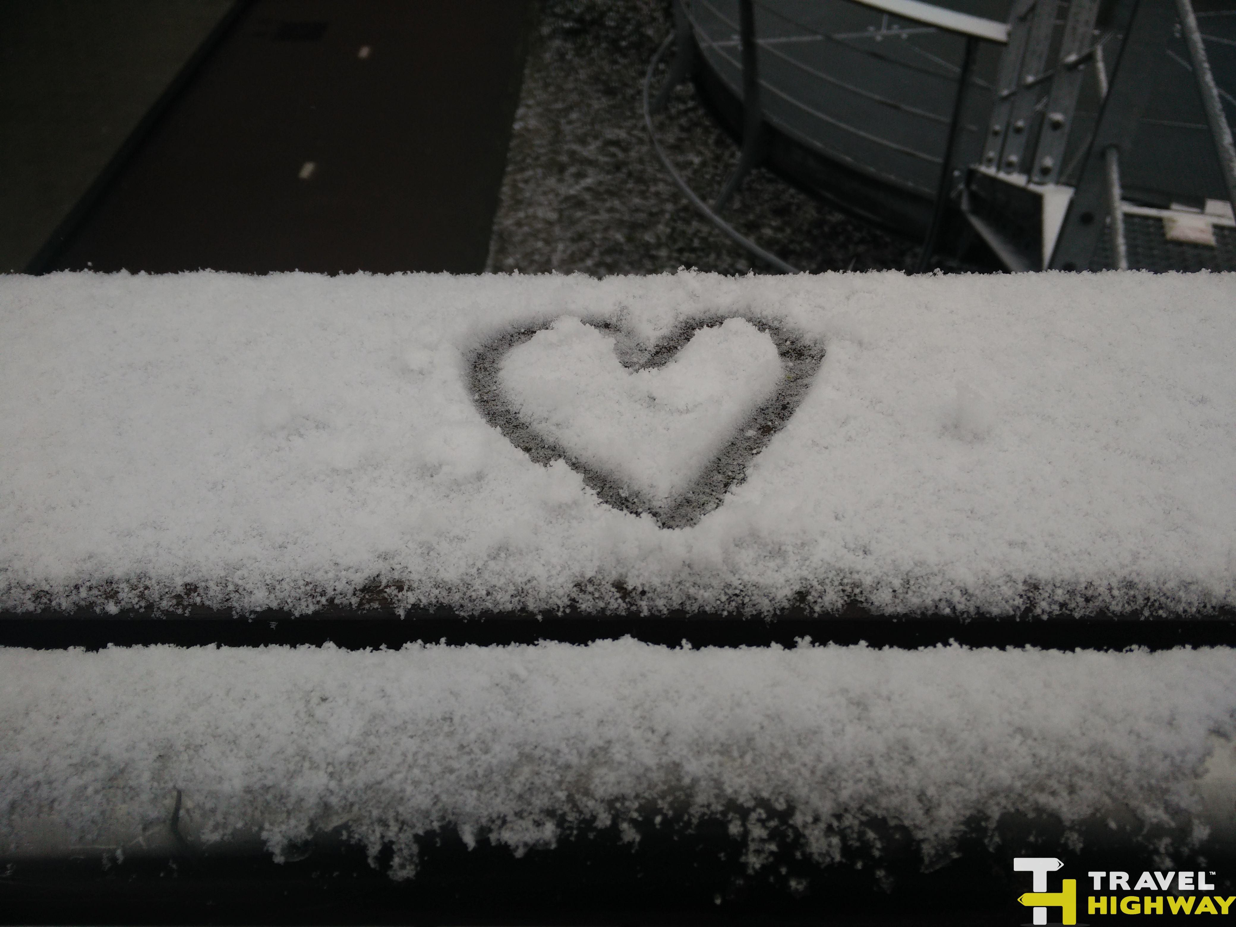 Amsterdam in winter snow