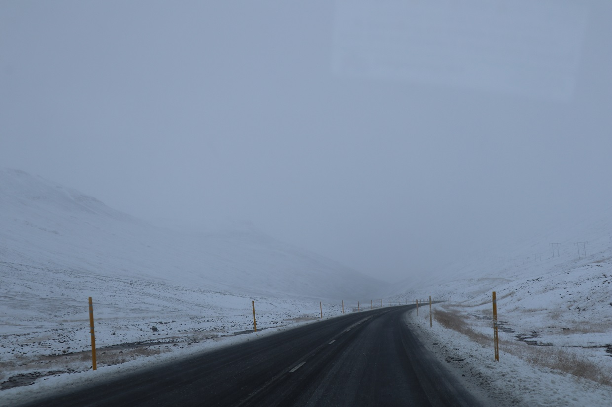 Engulfed in snow Iceland