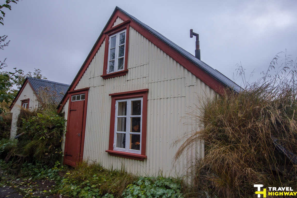 Self sufficient turf houses South Iceland Vik