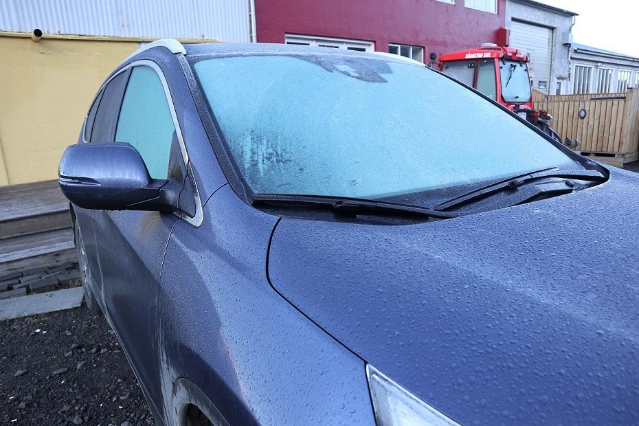 Frozen windshield - Iceland
