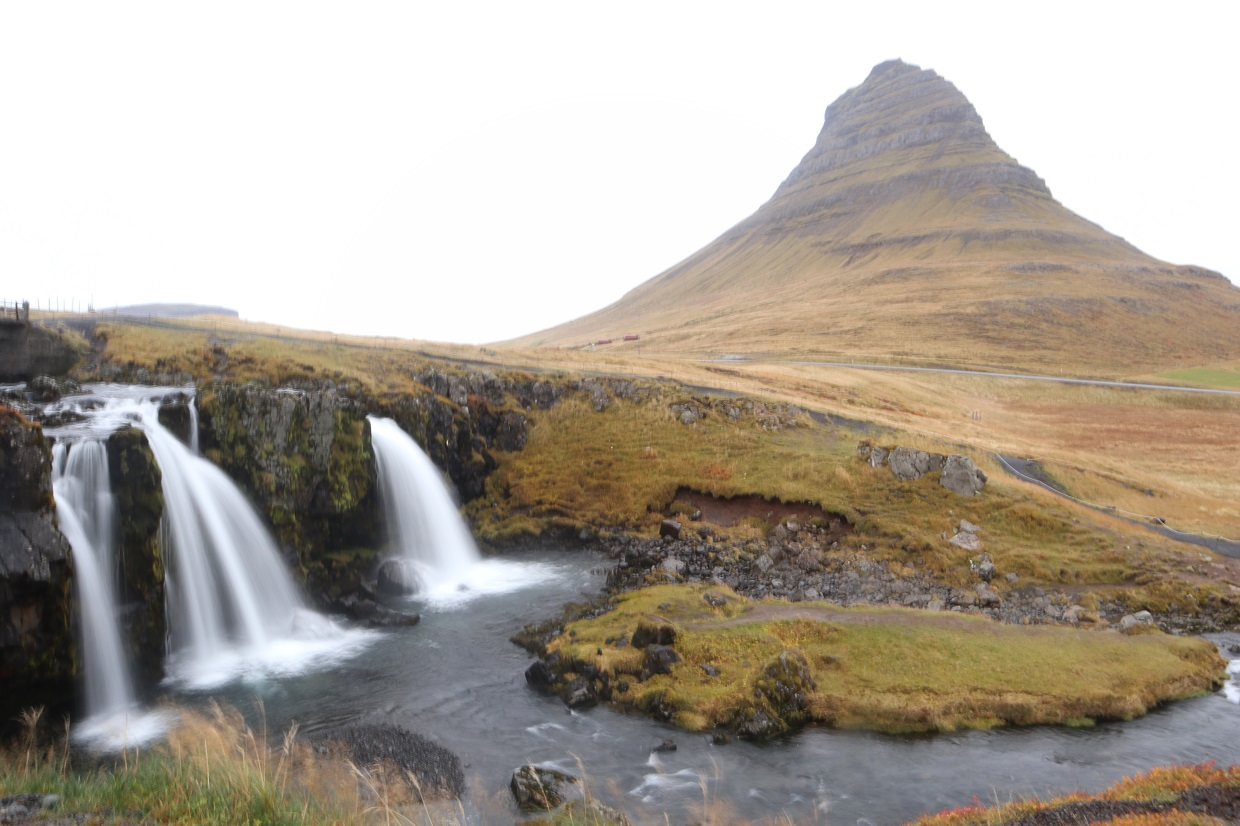 Kirkjufell mountain most photographed mountain in Iceland