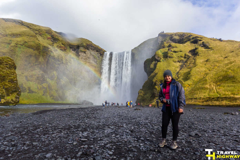 Skogafoss Iceland rainbows